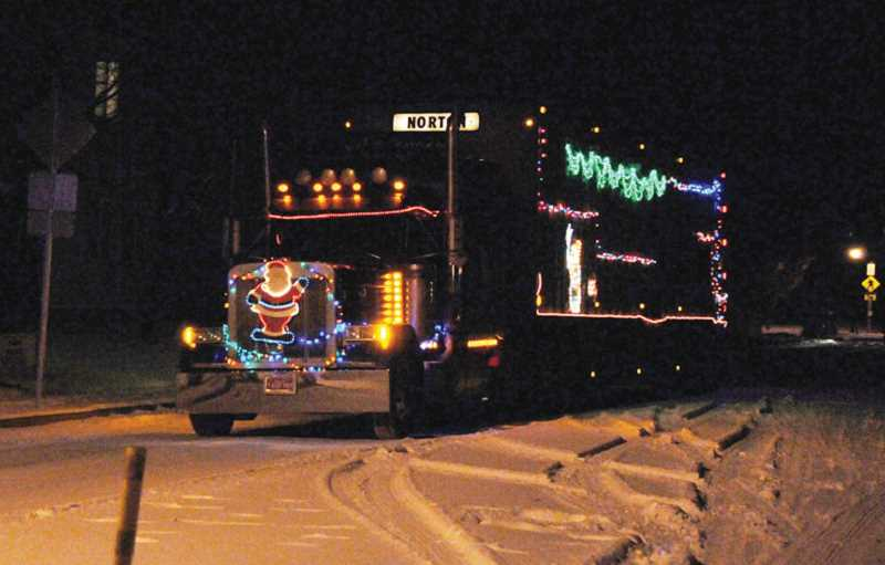 by: BILL VOLLMER - The Norton Cattle Co. truck was the overall winner in the Christmas Lights Parade on Saturday, Dec. 7. The parade, put on by the Madras-Jefferson County Chamber of Commerce, had 20 entries.