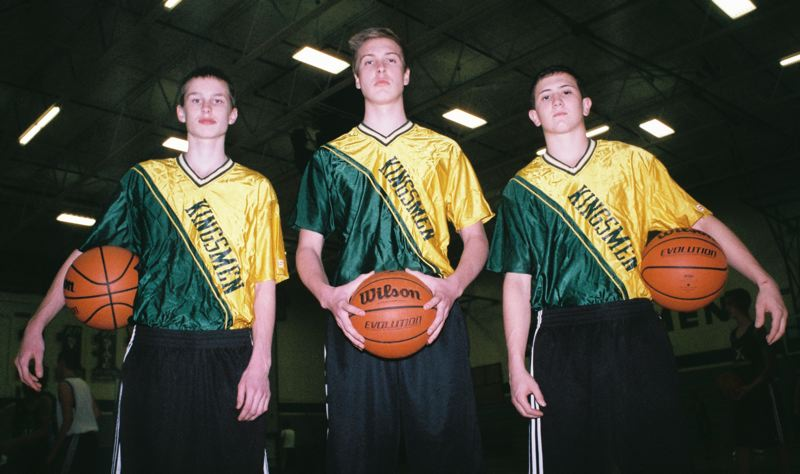 by: JOHN DENNY - Putnam senior leaders (from left) Drew ODell, Austin Klein and Calvin Spencer believe the Kingsmen can give the top teams in the Northwest Oregon Conference a run for their money in 2014.