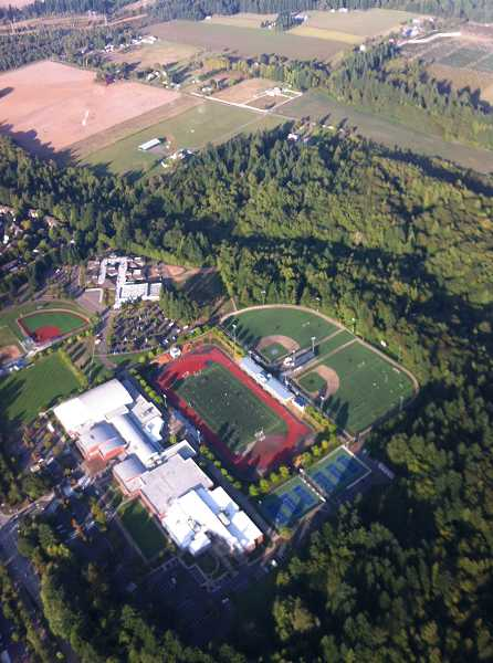 by: SUBMITTED PHOTO - Wiegand snapped this arial photo of Wilsonville High School.
