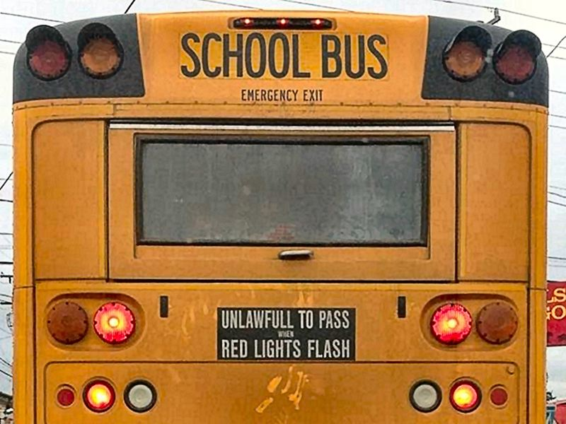 by: CONTRIBUTED PHOTO - School bus typo