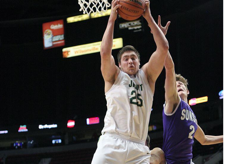 by: TIMES FILE PHOTO - Jesuit power forward Henry Mondeaux is getting back into the basketball swing of things after football season. Mondeaux started for the Crusaders last year.