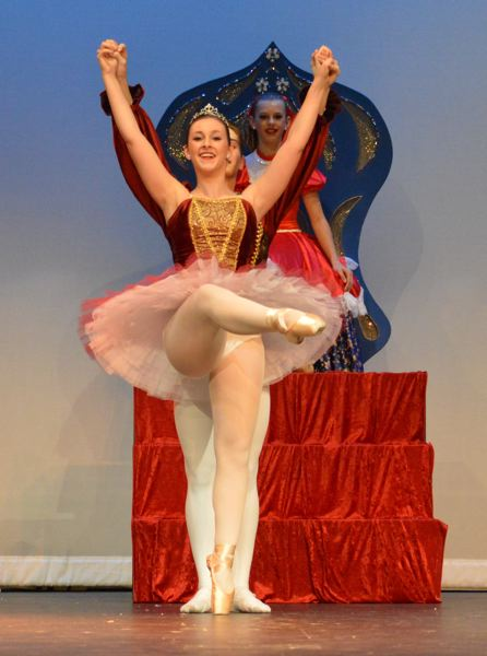 by: SUBMITTED PHOTO - Abby Miller, a senior at Tualatin High School, danced the role of Sugar Plum Fairy on Dec. 15 with the Westside Dance Academy.
