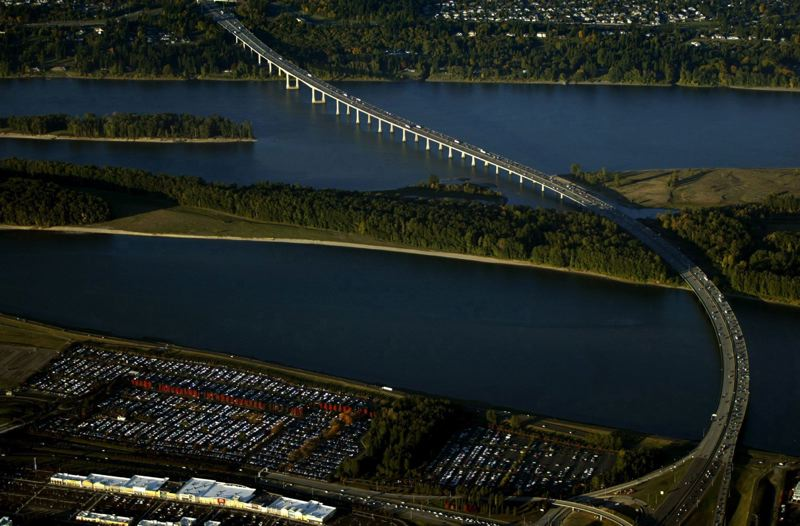 by: TRIBUNE FILE PHOTO: L.E. BASKOW - The Glenn Jackson Bridge on Interstate 205 over the Columbia River could be jammed with even more traffic as the regions population increases and the economy grows.
