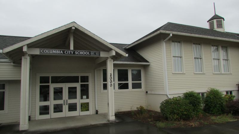 by: FILE PHOTO - The Columbia City School, which the St. Helens School District is considering as the future site of a science-focused magnet school. The district closed the Columbia City School last year due to limited funding.