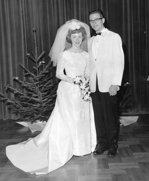 by: CONTRIBUTED PHOTO - The Dickeys at their wedding Dec. 19, 1963.