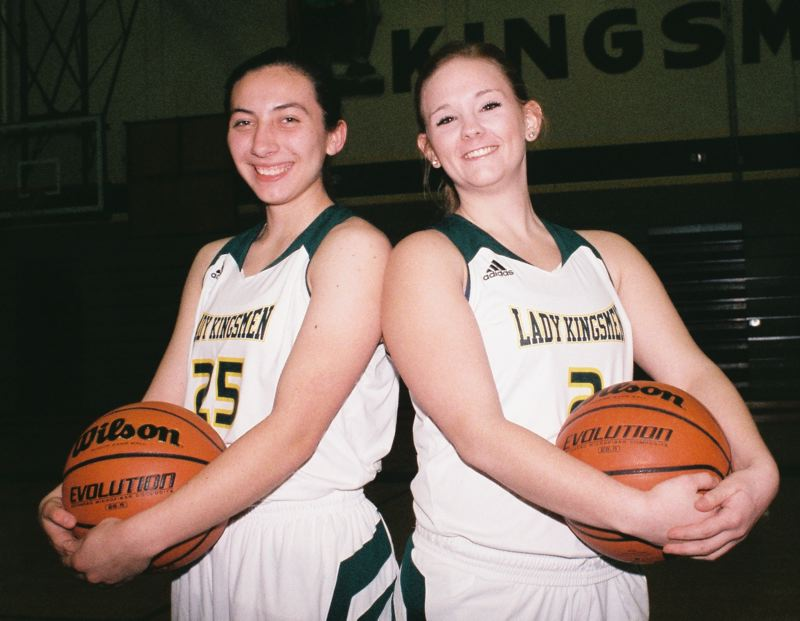 by: JOHN DENNY - Team captains Mariah Oliver (left) and Ali Schooley believe the Kingsmen have the horses to bring Putnam girls basketball the most success that the program has had in decades.