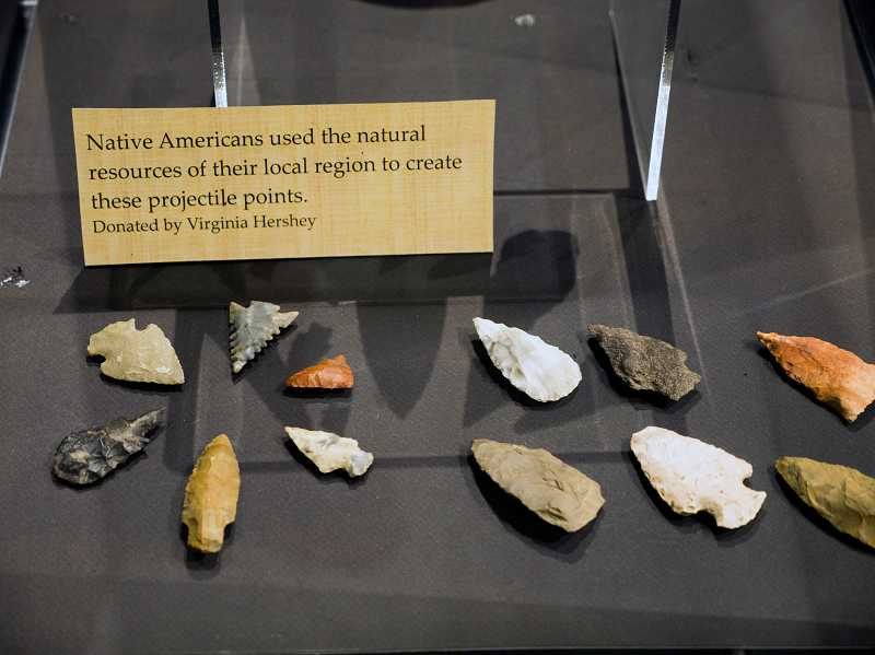 by: COURTESY PHOTO - These arrowheads were donated by Virginia Hershey and used by Native Americans more than a century ago.