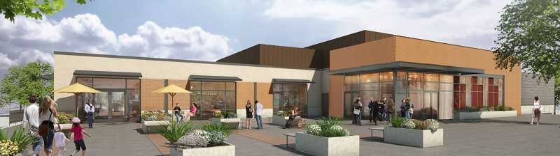 by: COURTESY CITY OF SHERWOOD - Here's an architectural rendering of what the front of the new Sherwood Cultural Arts Community Center will look like.