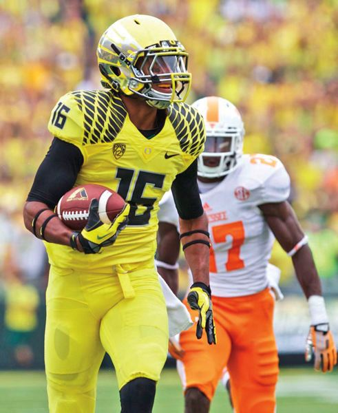 by: COURTESY OF UNIVERSITY OF OREGON - Daryle Hawkins is one of 19 players in a senior class looking to score their 47th career victory when Oregon meets Texas in the Alamo Bowl.