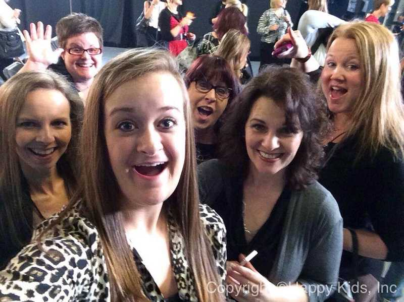 by: SUBMITTED PHOTO - Meg Hodson, far right, and fellow bloggers got a preview of the season opener for 'American Idol.'
