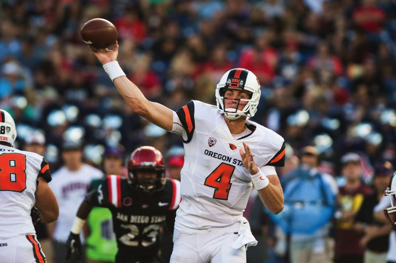 by: PAMPLIN MEDIA GROUP: FILE PHOTO - Oregon State quarterback Sean Mannion set the single season passing record with 4,662 yards this season.