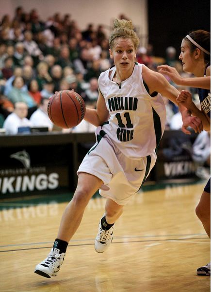 by: COURTESY OF PORTLAND STATE UNIVERSITY - North Marion High product Kelsey Kahle, who holds numerous Portland State women's basketball records, is  in her first season as a varsity assistant with the Huskies girls basketball team.
