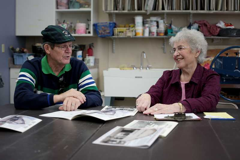 by: TIMES PHOTO: JONATHAN HOUSE - Bob Day and Elaine Shreve talk about creating the Garden Home calendars that feature photography taken throughout its history.
