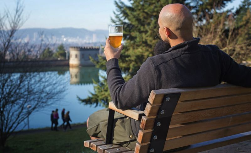 by: TRIBUNE PHOTO: JONATHAN HOUSE - Theoretical astrophysicist Ethan Siegal is predicting the result of capping Portlands Mt. Tabor reservoir will cause hallucinagens to leach into the water, making local beer the most popular in the world.