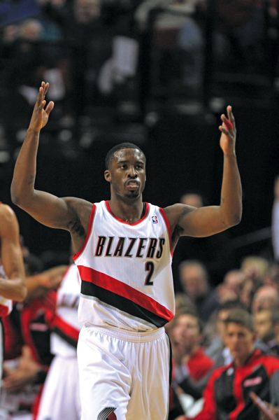 by: TRIBUNE PHOTO: JONATHAN HOUSE - Trail Blazers guard Wesley Matthews says he has confidence that the basketball gods are looking out for him, and over his shots.