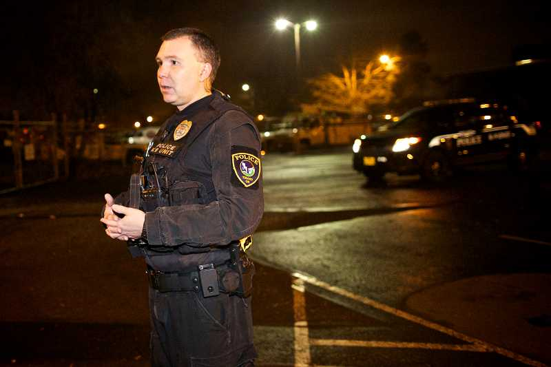 by: TIMES PHOTO: JAIME VALDEZ - Tigard Police Officer Cameron Odam has been working K-9 Officer Baxter since 2010.