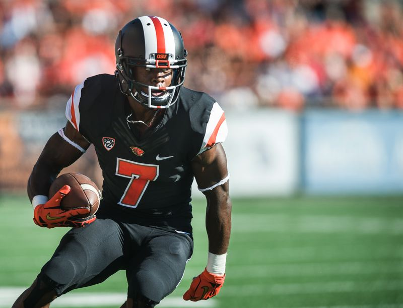 by: COURTESY OF KARL MAASDAM - Wide receiver Brandin Cooks has decided to leave Oregon State after his junior season and make himself eligible for the NFL draft.