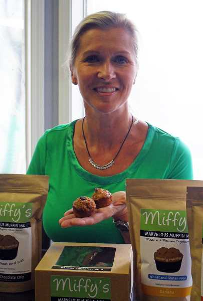 by: STAFF FILE PHOTO - West Linn entrepreuner Miffy Jones launched her Miffys Muffin Mixes in 2013.
