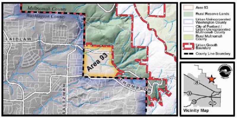 by: SUBMITTED MAP - Area 93 is now part of Washington County.