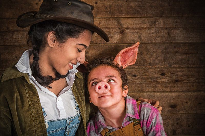 by: COURTESY OF OWEN CAREY/OCT - Its Maya Caulfield as Fern and Elisha Henig as Young Wilbur in Oregon Childrens Theatres Charlottes Web, Jan. 18-Feb. 16.