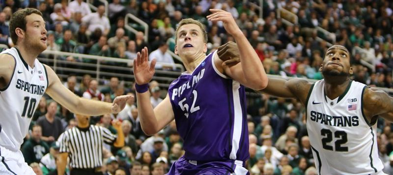 by: COURTESY OF UNIVERSITY OF PORTLAND - Ukranian power forward Volodymyr Gerun is working his way onto the court for the Portland Pilots, who play host to Gonzaga at 8 p.m. Thursday at Chiles Center.
