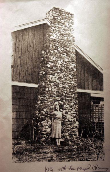 by: CONTRIBUTED PHOTO: MCMENAMINS EDGEFIELD - Kate Rockwell, or Klondike Kate, in front of her rock chimney in Bend.