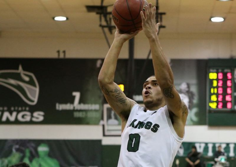 by: COURTESY OF PORTLAND STATE UNIVERSITY - Gary Winston, a junior guard from Walla Walla, Wash., made the winning 3-pointer at the end of the third overtime Saturday night, as Portland State beat Montana 81-78 at Stott Center.