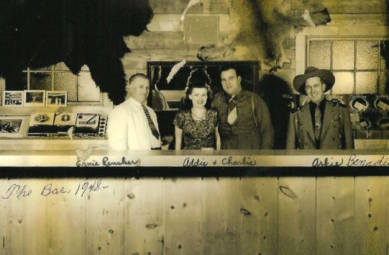 by: CONTRIBUTED PHOTO: JOANNA CECILIANI - Arkie and the Jolly Cowboys was the first band to play at D-Street Corral in 1948 and became the house band for the first several years. Adoline and Charlie Ceciliani, center, operated the dance hall from 1948-1979.