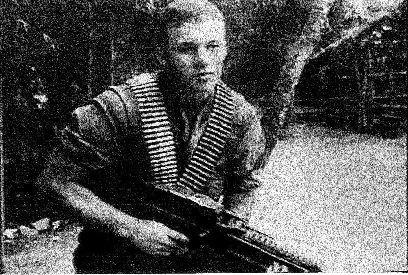 by: SUBMITTED PHOTO - Jack Estes is shown in 1969 at age 19 as a U.S. Marine in Vietnam. He described himself as a frightened but competent soldier.
