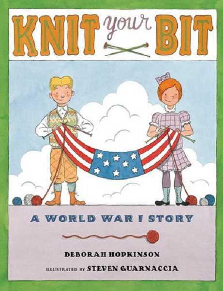 Deborah Hopkinson is a finalist for her childrens book, Knit Your Bit.