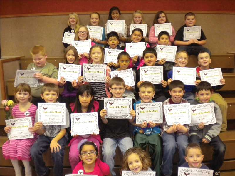 by: MOLALLA ELEMENTARY SCHOOL - Eagles of the Month for December 2013 at Molalla Elementary School