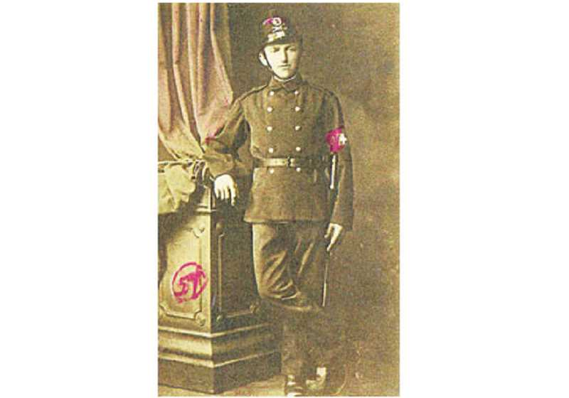 Antonio Batalgia in his Swiss Palatine Guard uniform circa 1880.