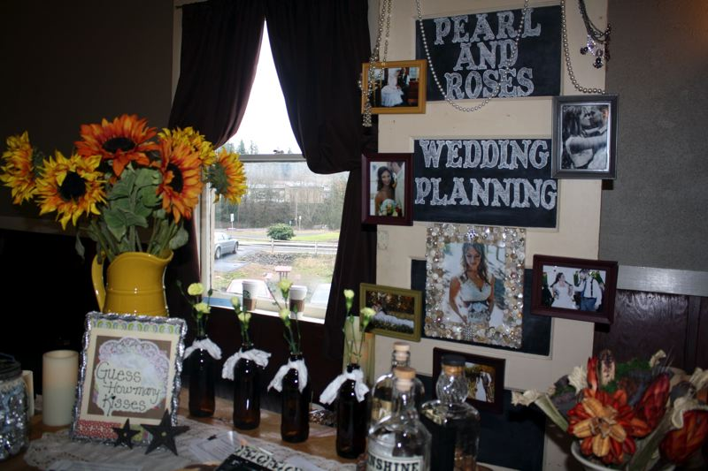 by: POST PHOTO: KYLIE WRAY - Country Bridal Affair co-founder Donna Cole owns Pearl and Roses Wedding Planning. Her booth displayed tons of DIY wedding decoration ideas.