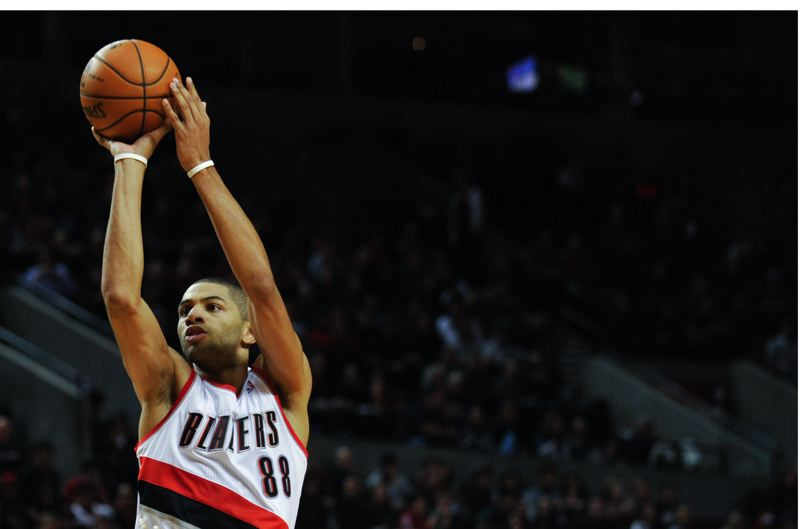 by: COURTESY OF JOHN LARIVIERE - Nicolas Batum had one of his top scoring games for the Trail Blazers on Saturday, helping them build a huge lead in a win at Dallas.