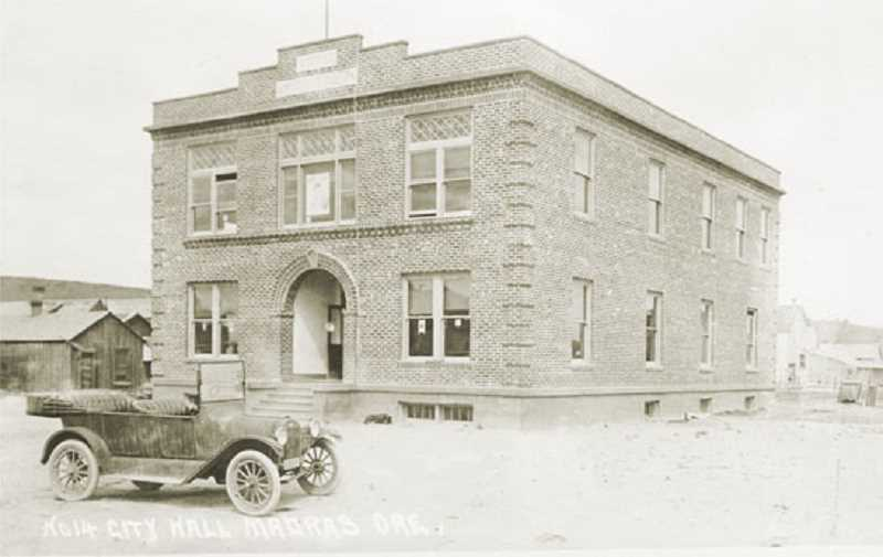 by: JEFFERSON COUNTY HISTORICAL SOCIETY PHOTO - The old 1917 courthouse, originally the Madras City Hall, has been sold.