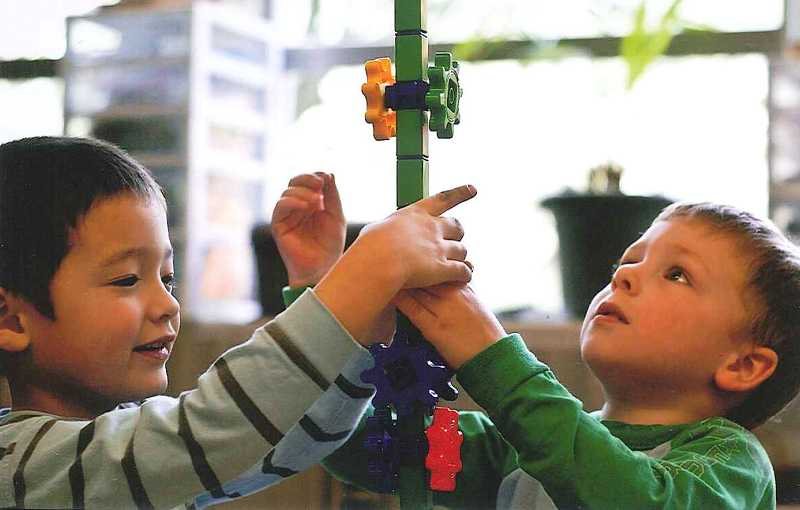 by: SUBMITTED PHOTO - Ethan Vedder, left, and Andrew Morris are Community Arts Preschool students.
