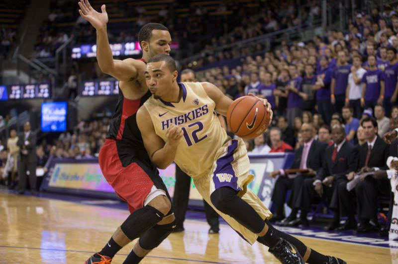 by: COURTESY OF UNIVERSITY OF WASHINGTON - Washington Huskies guard Andrew Andrews, from Benson High, has emerged as one of the teams top scorers.