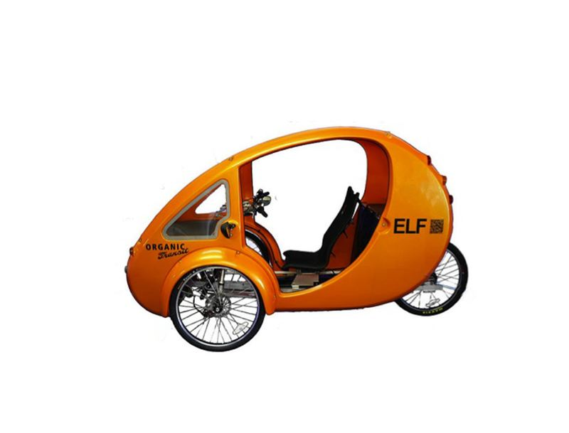 by: COURTESY OF ORGANIC TRANSIT - The 150-pound ELF fits on bike paths, sidewalks and roadways and can go up to 20 miles per hour.