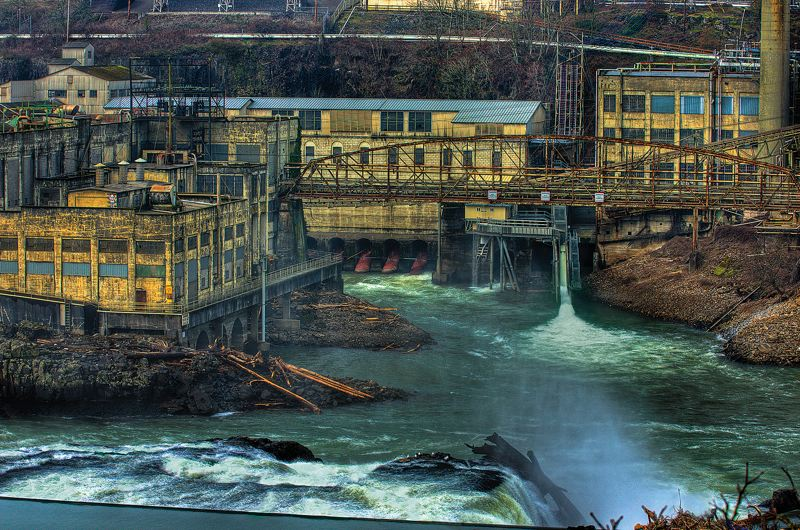 by: PHOTO COURTESY RAY TATYREK - Art capturing the transitory beauty of the post-industrial ruins surrounding Willamette Falls will be exhibited and for sale at the indoor festival at the Museum of the Oregon Territory honoring the falls Saturday, Feb. 1.