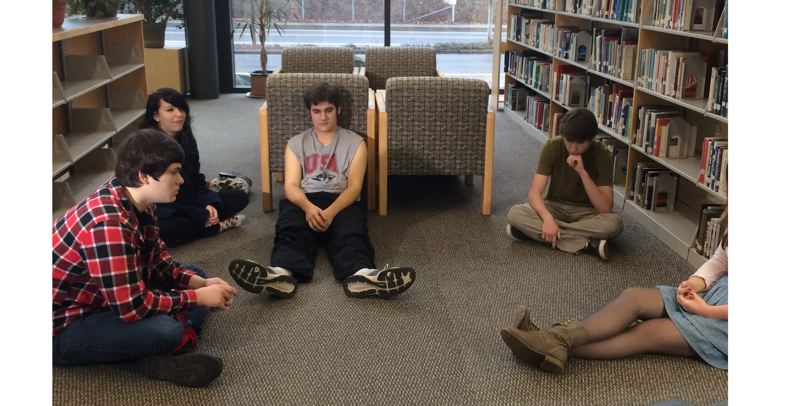 by: PHOTO COURTESY: HOPE ALEXANDER - From left, Ryan Coyle, Sierra Amanda Bish, Heron Bratschi, Calen Coates and Katharine Yates star in a North Clackamas School District version of 'The Breakfast Club' coming Jan. 31.