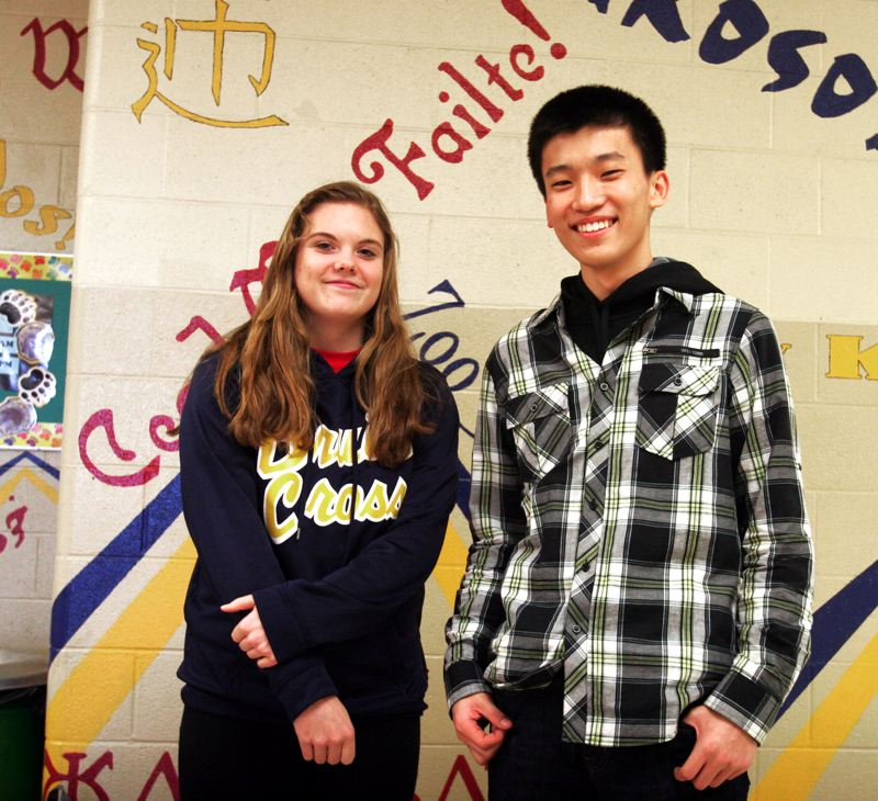 by: OUTLOOK PHOTO: JIM CLARK - Ashley Dupuis, a junior, and Kevin Kim, a senior, see huge benefits in their AP coursework, including more engaging material, college preparation and incoming credits.