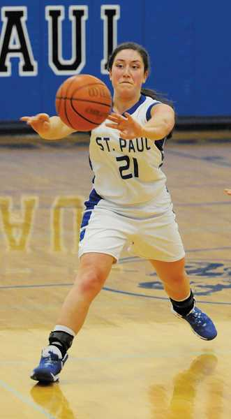 by: SETH GORDON - St. Paul senior Jessica Wilmes scored nine points in the Bucks lone win of the week against Jewell.