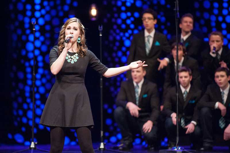 by: SPOKESMAN PHOTO: JOSH KULLA - Senior Madison Pintar of Sou'ld Out was named best soloist at the ICHSA Western Semifinals Saturday.