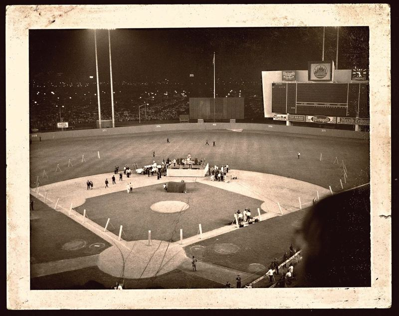 by: COURTESY OF ROSS HAMILTON - Ross Hamilton's Polaroid photo - now digitized - shows the layout for the Beatles epic 1965 concert at Shea Stadium in New York. I love the simplicity of the photo, the longtime photojournalist says.