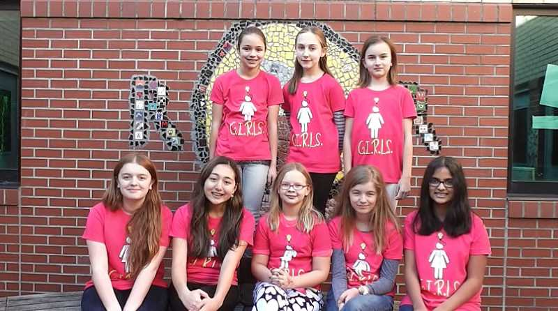 by: SUBMITTED PHOTO - Members of the GIRLS team from Rosemont Ridge Middle School won second place for their teamwork, a core value of FIRST.