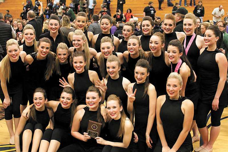 by: SUBMITTED PHOTO: JAY SCHRADER - The West Linn High School dance team is headed to state competition in March.