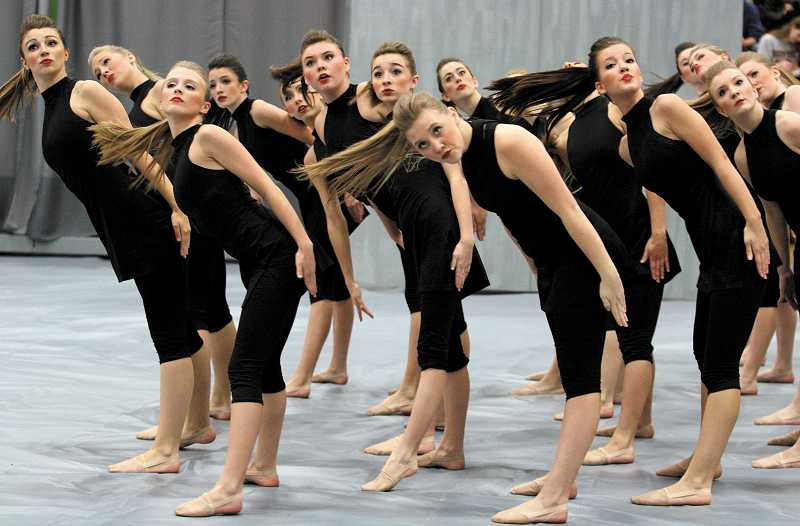by: TIDINGS PHOTO: J. BRIAN MONIHAN - The Debs took fourth place in the Show division at the Canby Winter Festival of Dance.