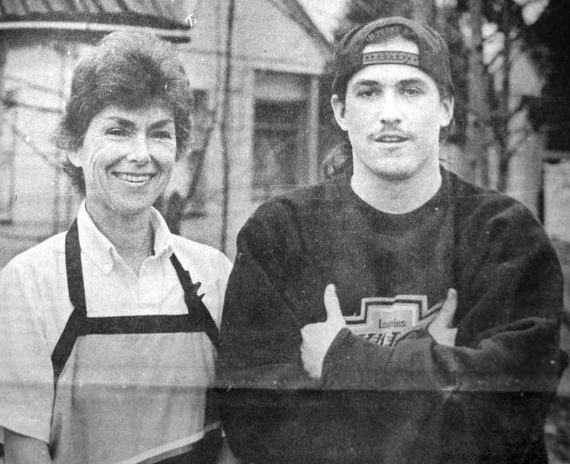 by: ARCHIVE PHOTO - 1994: Judy and Jeff Griffin pose for the camera. Jeff's childhood friend called a California radio station to try to find him. The station called numerous Estacada businesses to track him down, after learning his mom, Judy, worked at an Estacada restaurant.