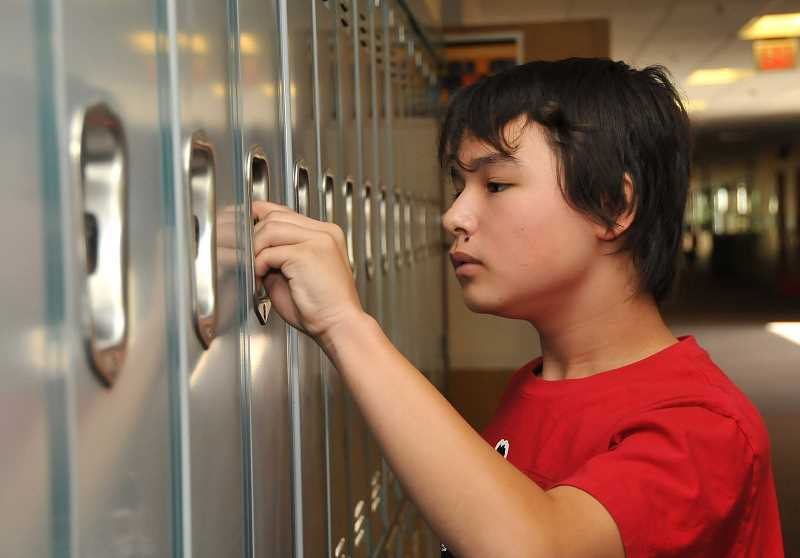 by: VERN UYETAKE - On his first day of school in September 2012, Rikiya Klasen concentrated on mastering a skill that daunts many junior high students: opening a locker.