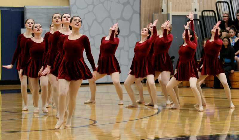 by: J. BRIAN MONIHAN - Pacer dancers competed last Saturday in Canby.